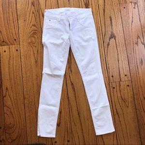 Hudson Collin skinny jeans, white